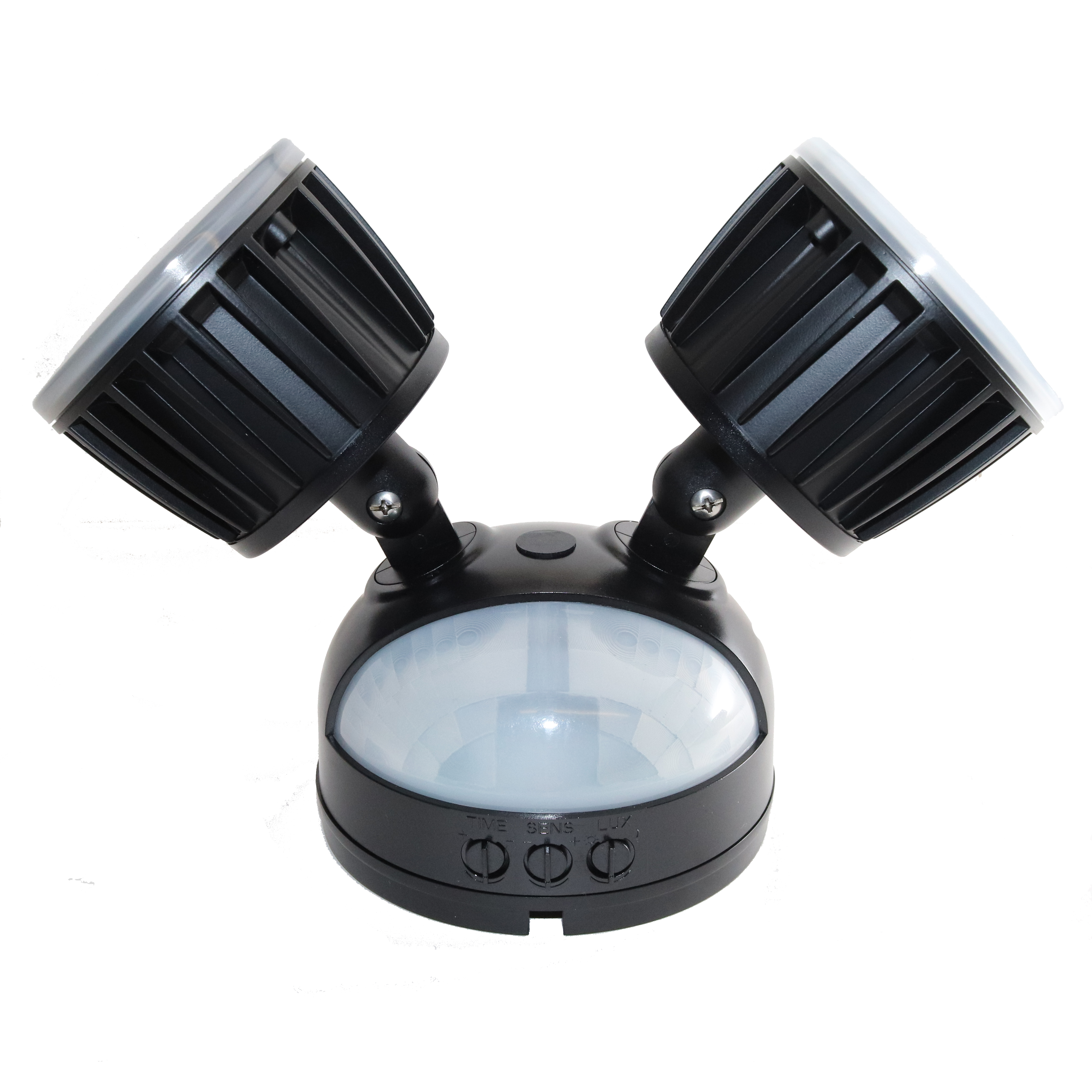 Nw 16w Twin Security Pir Led Light Black Nightwatcher